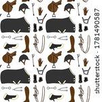 vector seamless pattern of... | Shutterstock .eps vector #1781490587