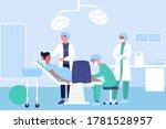 childbirth in hospital flat... | Shutterstock .eps vector #1781528957