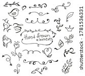 vector hand drawn calligraphic... | Shutterstock .eps vector #1781536331