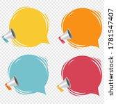 megaphone with speech bubble... | Shutterstock .eps vector #1781547407