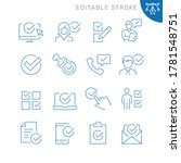 approve related icons. editable ... | Shutterstock .eps vector #1781548751