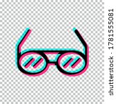 tik tok glasses icon isolated...