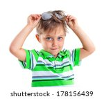 closeup portrait of a boy with... | Shutterstock . vector #178156439