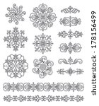 ornamental elements  borders... | Shutterstock .eps vector #178156499