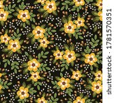 seamless floral pattern with... | Shutterstock . vector #1781570351