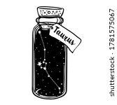 glass bottle with zodiac... | Shutterstock .eps vector #1781575067