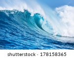 large powerful ocean wave   Shutterstock . vector #178158365