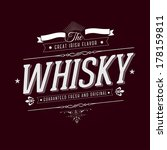 hand crafted whisky lettering... | Shutterstock .eps vector #178159811