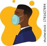african american man wearing a... | Shutterstock .eps vector #1781627894