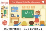 vector back to school searching ... | Shutterstock .eps vector #1781648621
