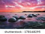 moeraki boulders on the koekohe ...   Shutterstock . vector #178168295