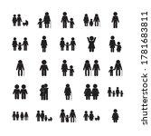 avatars silhouette style icon... | Shutterstock .eps vector #1781683811