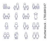 avatars line style icon set... | Shutterstock .eps vector #1781684147