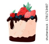 sweet dessert drizzled with... | Shutterstock .eps vector #1781713487