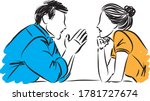 couple man and woman looking... | Shutterstock .eps vector #1781727674
