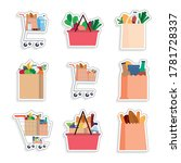 set of grocery bags stickers  ... | Shutterstock .eps vector #1781728337