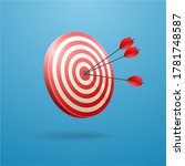 hit right on target. business... | Shutterstock .eps vector #1781748587