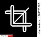 crop vector icon. crop tool...
