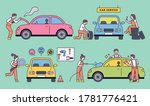 cars with experts in auto... | Shutterstock .eps vector #1781776421
