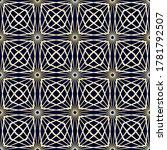geometric gold grid pattern of... | Shutterstock .eps vector #1781792507