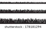 vector silhouette of grass on...   Shutterstock .eps vector #178181294