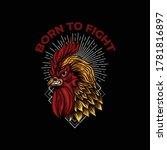 design born to fight... | Shutterstock .eps vector #1781816897
