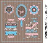vector set of wedding...   Shutterstock .eps vector #178183349