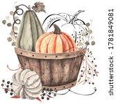 Watercolor Autumn Composition...