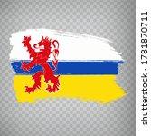 flag of  limburg brush strokes. ...