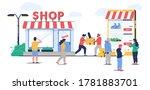 offline to online commerce...   Shutterstock .eps vector #1781883701
