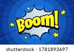 Boom Pop Art Comic Background...