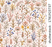Autumn Floral Seamless Pattern. ...