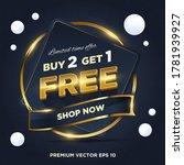 abstract dark blue gold sale... | Shutterstock .eps vector #1781939927