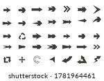 set of black vector arrows... | Shutterstock .eps vector #1781964461