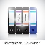 projects and funding folders...   Shutterstock . vector #178198454