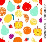 vector seamless pattern with... | Shutterstock .eps vector #1781988614