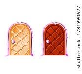 cartoon magic doors made of... | Shutterstock .eps vector #1781990627