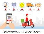 shopping online process....   Shutterstock .eps vector #1782005204