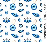 vector cartoon style seamless... | Shutterstock .eps vector #1782016544