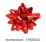 red bow isolated on white... | Shutterstock . vector #17820211