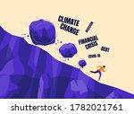 boulder rocks crisis rolling... | Shutterstock .eps vector #1782021761