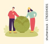 adult man and woman farmers... | Shutterstock .eps vector #1782034301