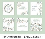collection of wedding and... | Shutterstock .eps vector #1782051584