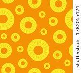 pineapple seamless pattern.... | Shutterstock .eps vector #1782055424