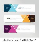 vector abstract banner design... | Shutterstock .eps vector #1782074687