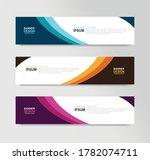 vector abstract banner design... | Shutterstock .eps vector #1782074711