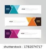 vector abstract banner design... | Shutterstock .eps vector #1782074717