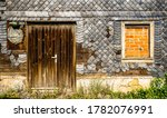 Old Wooden Door At A House  ...
