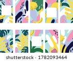 summer set of abstract vector... | Shutterstock .eps vector #1782093464