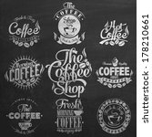 set of vintage retro coffee... | Shutterstock .eps vector #178210661